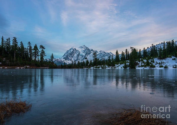 Wall Art - Photograph - Mount Shuksan Picture Lake First Freeze by Mike Reid