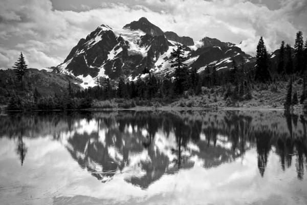 Photograph - Mount Shuksan Reflection by Ed  Riche
