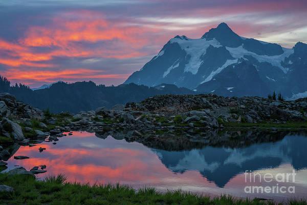 Wall Art - Photograph - Mount Shuksan Sunrise Fire by Mike Reid