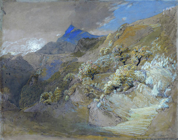 Wall Art - Painting - Mount Siabod From Tyn-y-coed Near Capel Curig - Digital Remastered Edition by Samuel Palmer