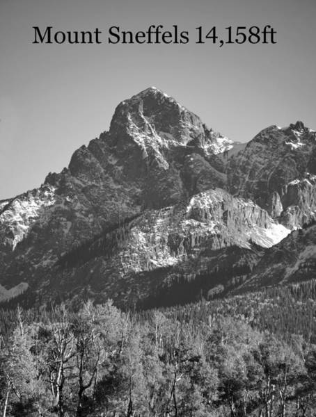 Wall Art - Photograph - Mount Sneffels 14,158ft Poster A by David Lee Thompson