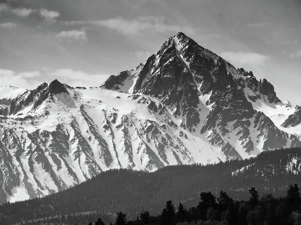 Fourteener Photograph - Mount Sneffels B W by Connor Beekman