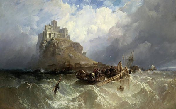 Wall Art - Painting - Mount St Michael, Cornwall, 1830 by Clarkson Stanfield