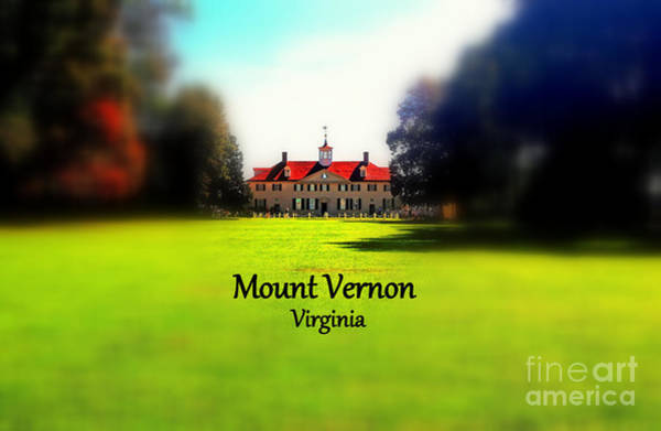 Photograph - Mount Vernon Virginia by Patti Whitten