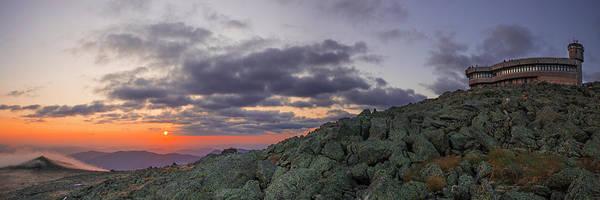 Wall Art - Photograph - Mount Washington Sunrise Fog Panorama by Chris Whiton