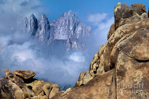 Photograph - Mount Whitney Clearing Storm Eastern Sierras California by Dave Welling