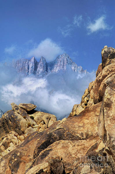 Photograph - Mount Whitney In Clouds Alabama Hills California by Dave Welling
