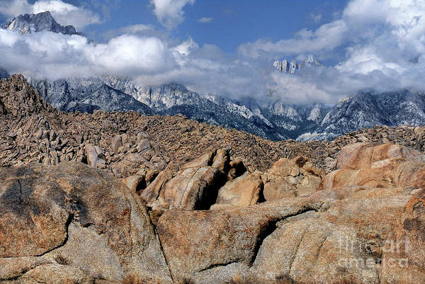 Photograph - Mount Whitney In Storm Alabama Hills Eastern Sierras California by Dave Welling