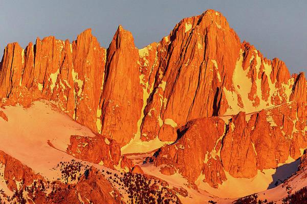 Photograph - Mount Whitney Sunrise by Steve Kaye