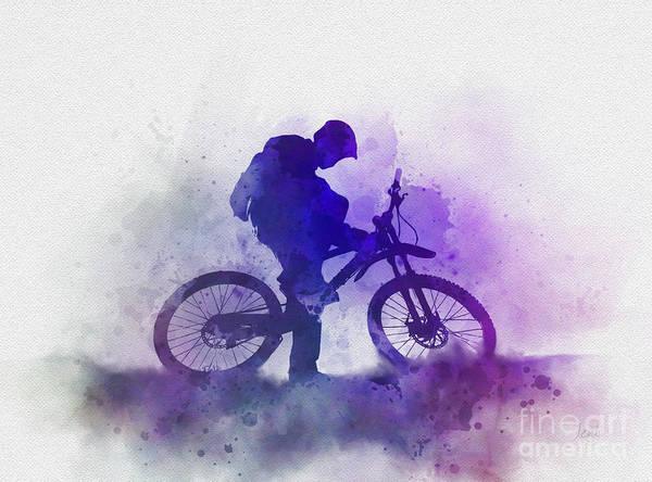 Wall Art - Mixed Media - Mountain Biking by My Inspiration