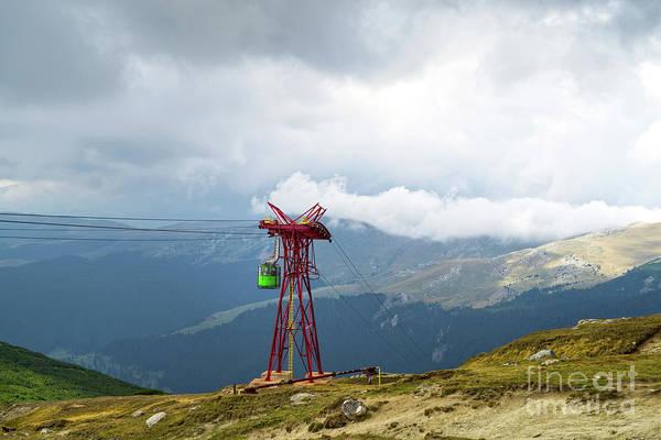 Ropeway Photograph - Mountain Cable Car In Bucegi Mountains by Cosmin-Constantin Sava