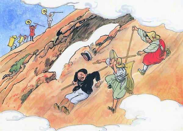 Wall Art - Painting - Mountain Climbing - Digital Remastered Edition by Kitazawa Rakuten