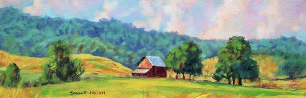 Wall Art - Painting - Mountain Farm by Bonnie Mason