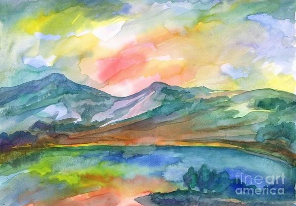 Painting - Mountain Lake by Irina Dobrotsvet