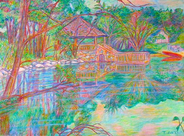 Painting - Mountain Lake Reflections by Kendall Kessler