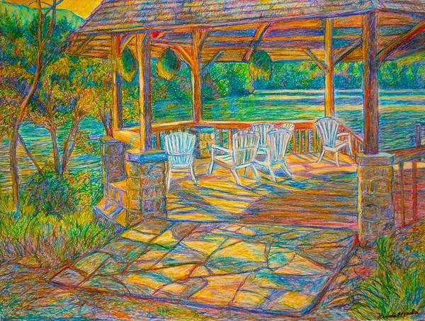 Painting - Mountain Lake Shadows by Kendall Kessler