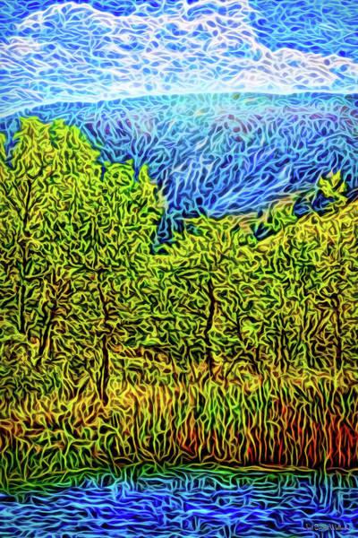 Digital Art - Mountain Lake Trees by Joel Bruce Wallach