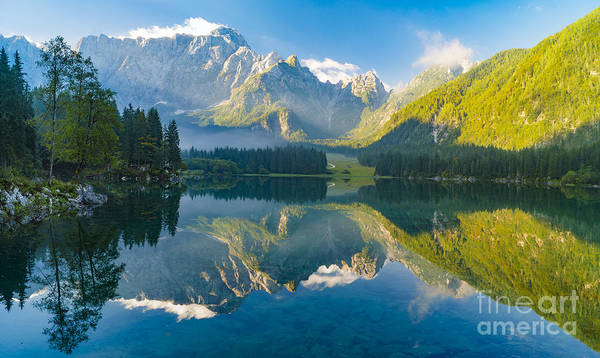 Wall Art - Photograph - Mountain Lake,laghi Di Fusine,italian by Mike Mareen