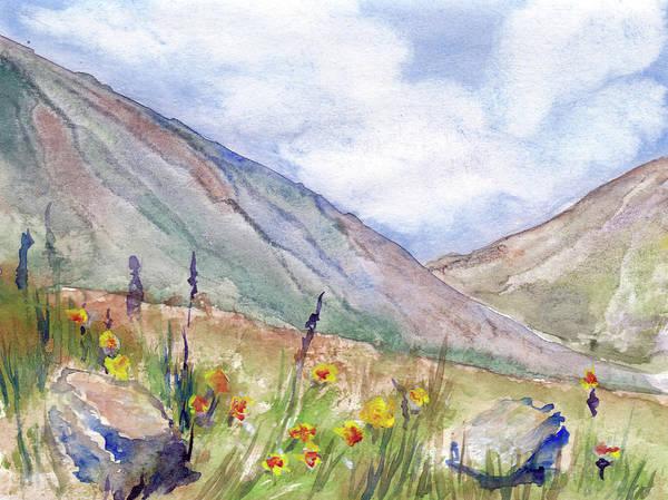 Beautiful Park Drawing - Mountain Landscape by Elena Sysoeva