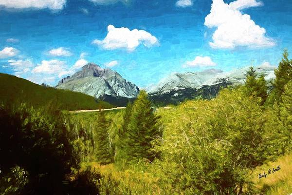 Digital Art - Mountain Landscape Glacier National Park. by Rusty R Smith