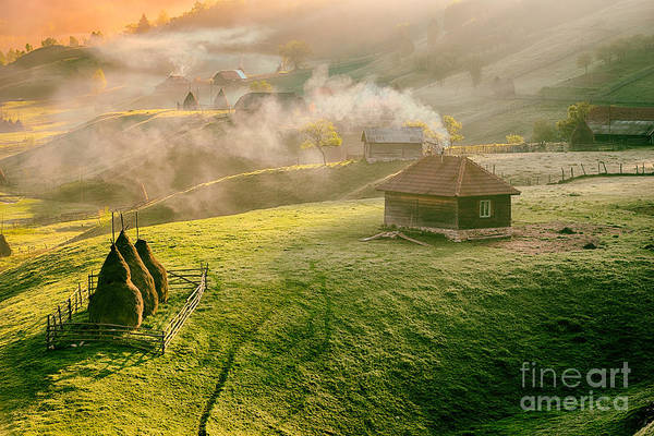 Wall Art - Photograph - Mountain Landscape In Summer Morning by Pazargic Liviu