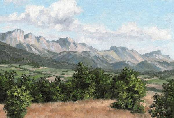 Alla Prima Painting - Mountain Landscape Painting by Rachel Stribbling