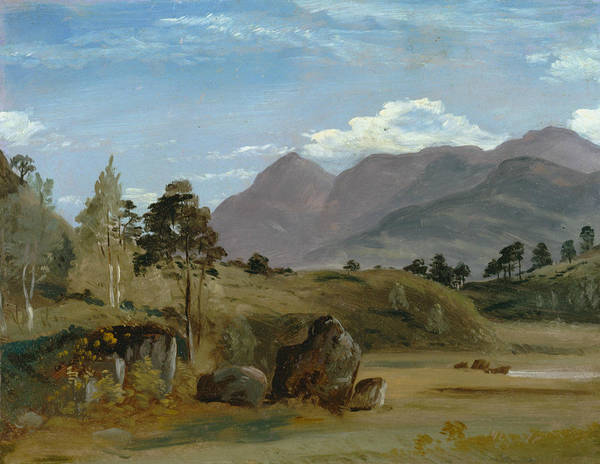 Lake District Painting - Mountain Landscape, Possibly In The Lake District by Lionel Constable