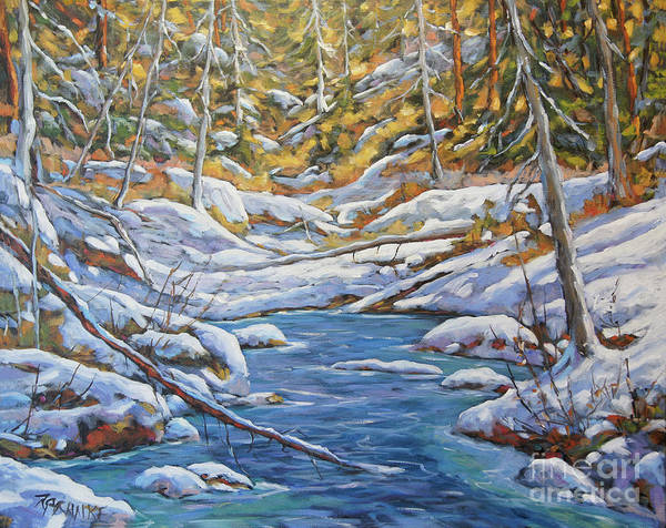 Montreal Scenes Painting - Mountain Landscape Winter By Richard Pranke by Richard T Pranke