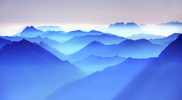 Photograph - Mountain Layers by Traumlichtfabrik