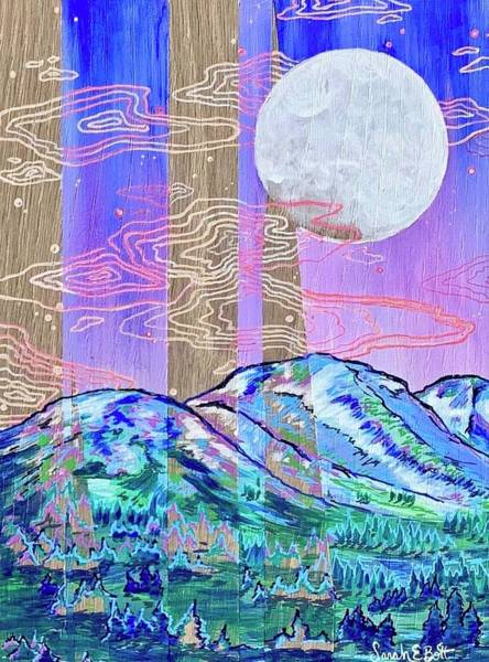 Painting - Mountain Moon by Sarah E Bott