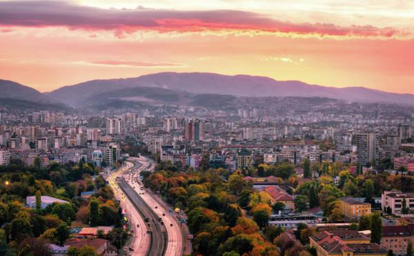 Photograph - Mountain Panorama - Sofia, Bulgaria by Nico Trinkhaus