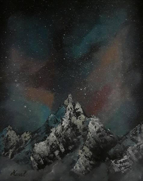 Painting - Graceful Mountain Peak by Manar Hawsawi