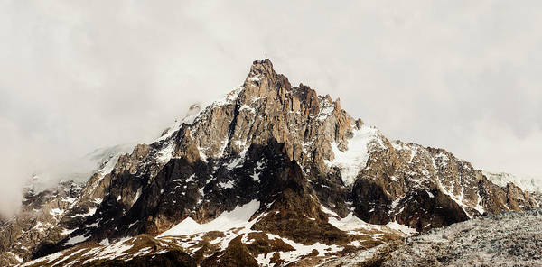Chamonix Wall Art - Photograph - Mountain Peak Laguille Du Midi In The by Mike Kemp Images