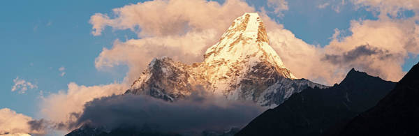 Wall Art - Photograph - Mountain Peak Sunset Panorama Ama by Fotovoyager