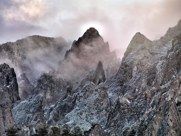 Photograph - Mountain Peaks by Leland D Howard