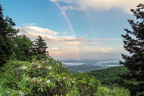 Photograph - Mountain Rainbow by Ken Barrett