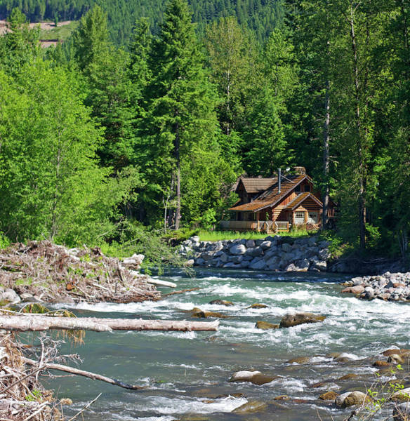 Log House Photograph - Mountain Retreat by Bruceblock