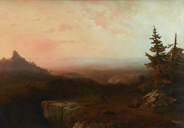 Wall Art - Painting - Mountain Scene by Thomas Moran