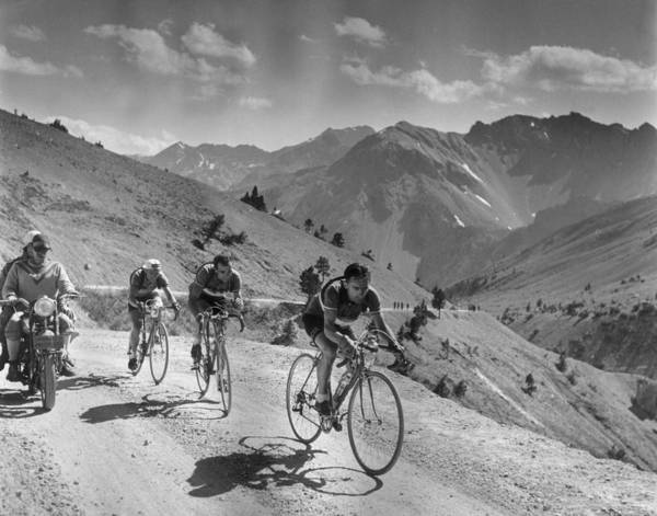 Bicycle Photograph - Mountain Stage by Bert Hardy