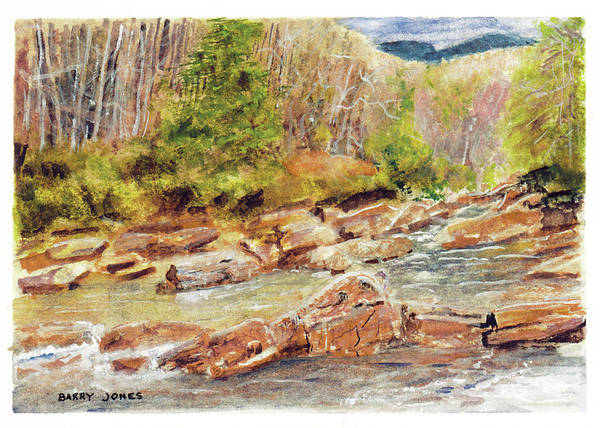 Painting - Mountain Stream by Barry Jones