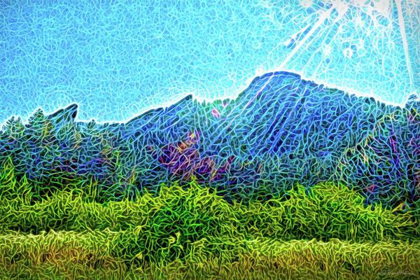 Digital Art - Mountain Sunrays by Joel Bruce Wallach