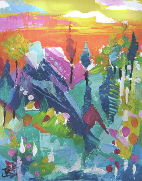 Painting - Mountain Sunrise by Jean Batzell Fitzgerald