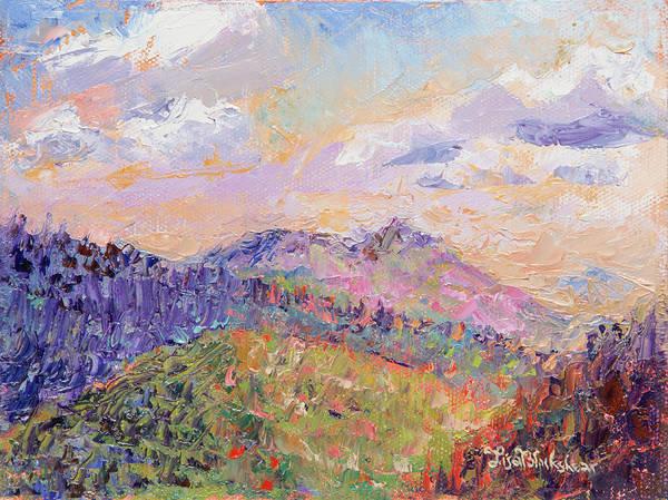 Painting - Mountain Sunrise by Lisa Blackshear