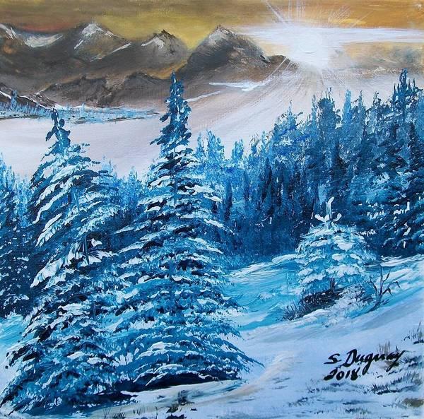 Painting - Mountain Sunrise  by Sharon Duguay