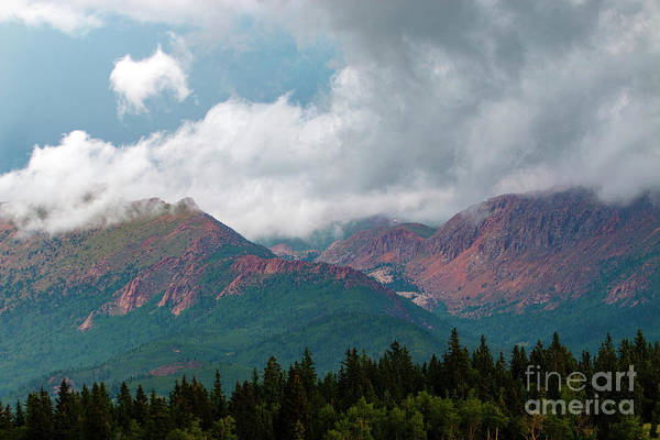 Photograph - Mountain Thunderstorm Clouds by Steve Krull
