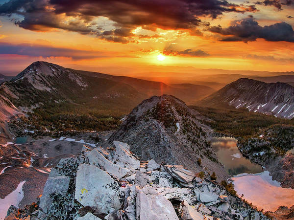 Altitude Photograph - Mountain Top Sunrise by Leland D Howard
