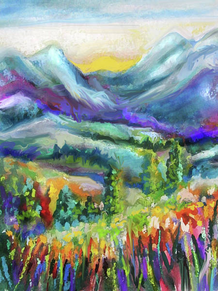 Painting - Mountain Valley Flowers by Jean Batzell Fitzgerald