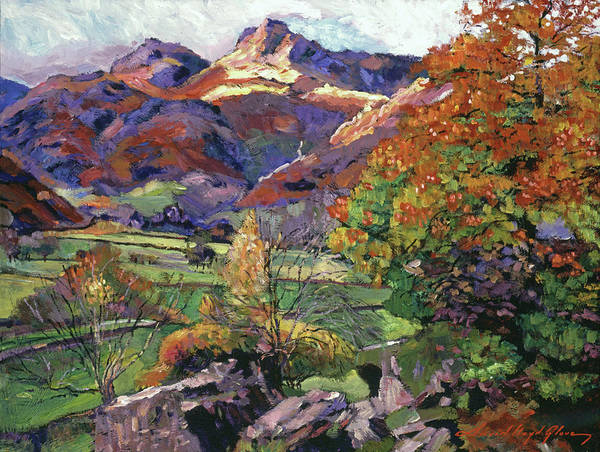 Painting - Mountain Valley Meadows by David Lloyd Glover