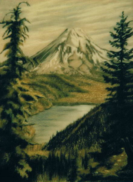 Pastel - Mountain View by Barbara Keith