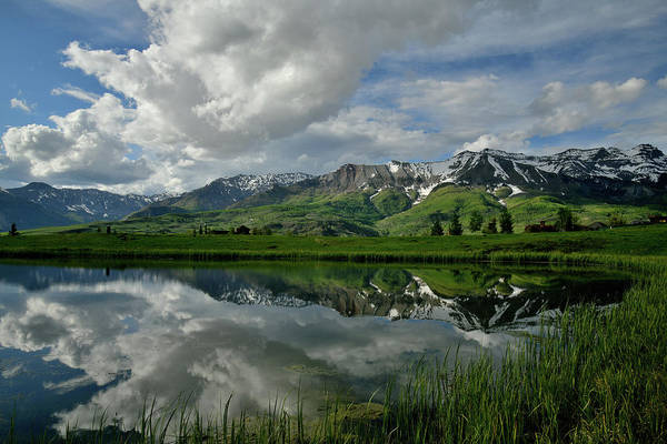 Photograph - Mountain Village Mirror Image by Ray Mathis